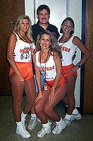 Bear and the lovely Hooters Girls