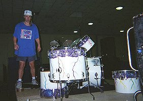 Jeff Peck on drums